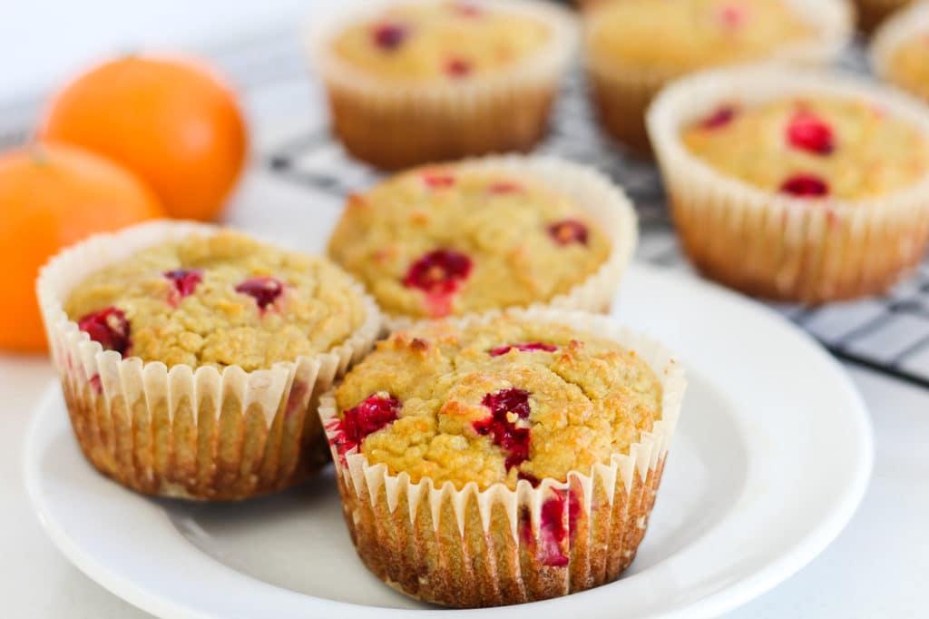 Paleo Cranberry Orange Muffins (Gluten-Free, Dairy-Free)