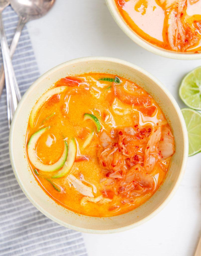 Thai Chicken Zoodle Soup (Paleo, Whole30)