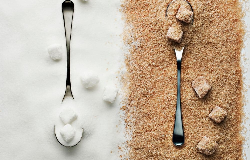 refined white sugar vs unrefined sugar