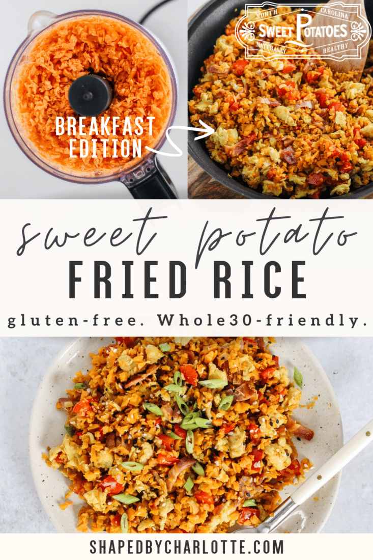 Breakfast fried sweet potato rice pinterest how-to pin
