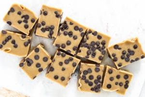 Healthy cookie dough freezer fudge