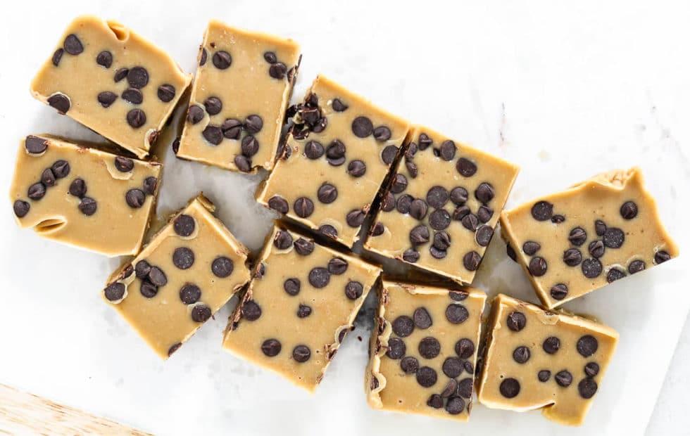 Healthy cookie dough freezer fudge