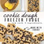 Healthy cookie dough freezer fudge pinterest pin