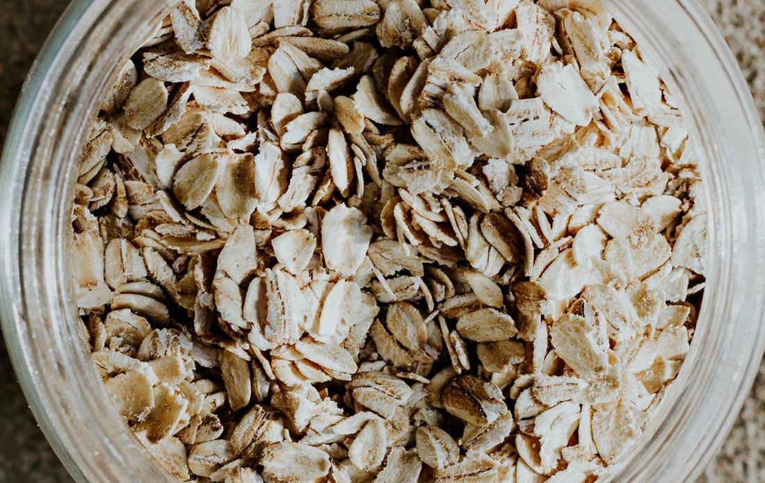 Oats for making homemade oat milk.